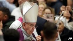 El papa Francisco dijo el domingo 31 de marzo de 2019 que se tomaría una decisión final hasta que se completara el proceso de apelación del cardenal francés, Philippe Barbarin.