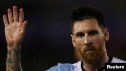 Lionel Messi jouant contre le Chili, le 23 mars 2017. REUTERS/Marcos Brindicci - RTX32GR4