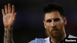 Lionel Messi jouant contre le Chili, le 23 mars 2017.