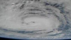 """Поглед на ураганот """"Харви"""" од Меѓународната вселенска станица"""