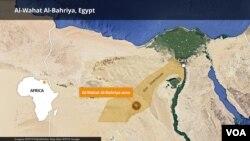 Peta kawasan Al-Wahat Al-Bahriya, Mesir.