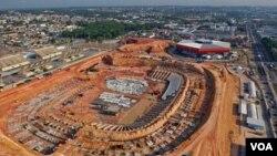 Arena da Amazonia, salah satu stadion yang akan digunakan untuk pertandingan-pertandingan Piala Dunia 2014 di Manaus, Brazil.