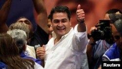 洪都拉斯总统候选人赫尔南德斯。(资料照片)
