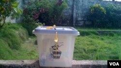 Ballot box in Sierra Leone