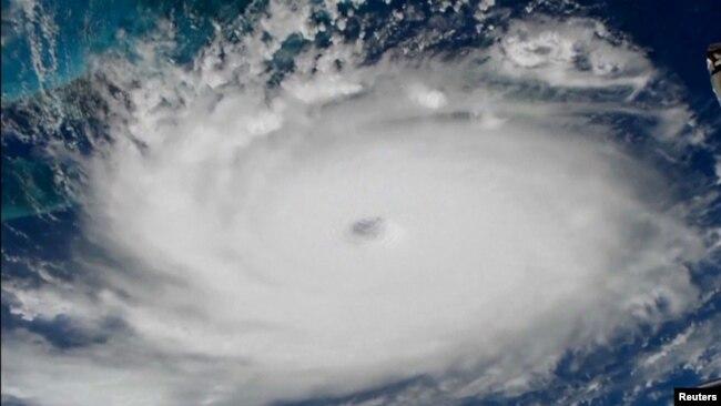 El huracán Dorian se ve desde la Estación Espacial Internacional. Septiembre 1 2019. Foto: NASA / vía REUTERS.