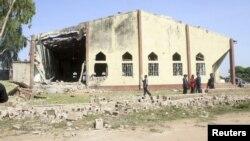 Igreja de Santa Rita, em Kaduna, após o ataque deste domingo