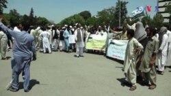 صوبائی اسمبلی کے الیکشن کے لیے قبائلی عمائدین کا احتجاج