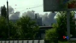 2014-05-27 美國之音視頻新聞: 烏政府軍和親俄分子在頓涅茲克交火