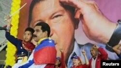 El presidente y candidato Nicolás Maduro es el favorito en las encuestas para ganar las elecciones presidenciales de Venezuela.