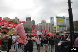2019年香港春宵活动现场 (美国之音记者申华拍摄)