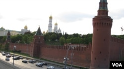 中俄领导人今年仍然频繁互动。莫斯科克里姆林宫。(美国之音白桦拍摄)
