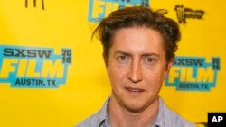 "FILE - David Gordon Green, pictured at the South by Southwest Film Festival in Austin, Texas, March 11, 2016, will have the world premiere of his film ""Stronger"" at the Toronto International Film Festival in September."