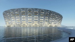360 Architecture rendering of Basra Sports City Football Stadium in Iraq
