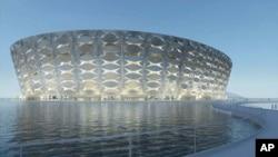 360 Architecture rendering of Basra Sports City Football Stadium in Iraq