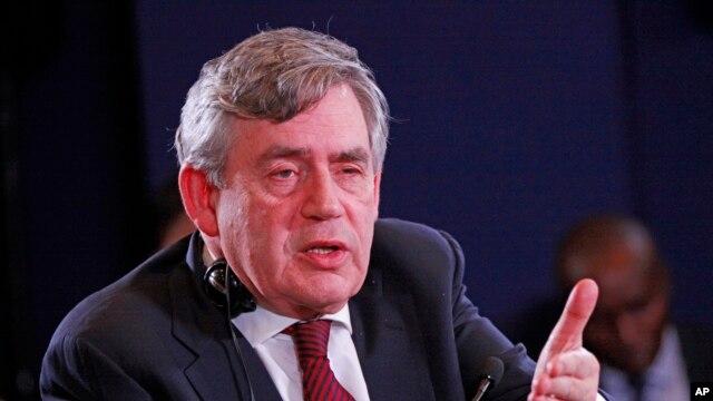 FILE - Former British Prime Minister Gordon Brown.