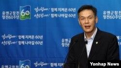 최완근 한국 국가보훈처 차장이 9일 서울 용산구 국방부에서 유엔군 참전 및 정전 60주년 계기 7·27 정부행사 계획에 관한 브리핑을 하고 있다.