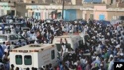 Une manifestation à Nouakchott, le 12 septembre 2012.
