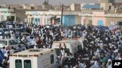 Une manifestation à Nouakchott, Mauritanie, 12 septembre 2012.