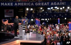 Muslims for Trump: Sajid Tarar, Founder of American Muslims for Trump, delivers the benediction at the conclusion of the second day of the Republican National Convention in Cleveland, Tuesday, July 19, 2016.