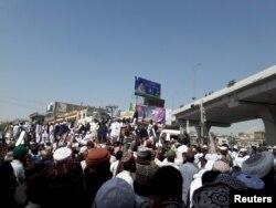 Biểu tình của các đảng phái hồi giáo phản đối việc hành quyết Mumtaz Wadri