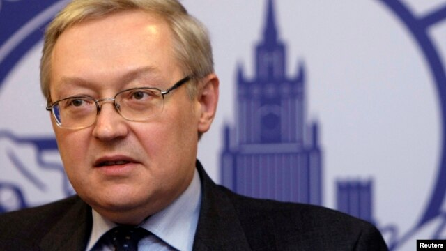 Russia's Deputy Foreign Minister Sergei Ryabkov speaks during a news briefing in Moscow, Dec. 15, 2008. (File)