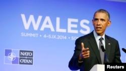 Au sommet de l'OTAN, Barack Obama a estimé que la création d'une force d'intervention rapide est « un signal » à la Russie (Reuters)