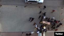 Место убийства сирийского режиссера Наджи Джерфа. Газиантеп. Турция. 27 декабря 2015.
