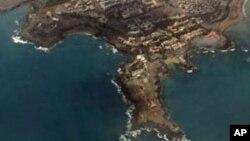 Vista aérea da cidade da Praia