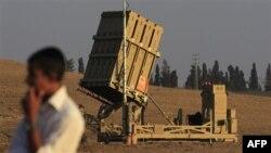 Пусковая установка ракет-перехватчиков израильской ПРО «Железный купол». Ашкелон. 20 августа 2011 года