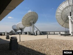 Each day NOAA's Satellite Operations Facility processes 16 billion bytes of data from 16 different satellites.