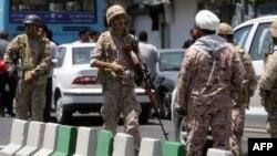 انقلابي ګار د ۲۰۱۷ کال جون په ۷ په تهران کې د یو برید وروسته حالت کې