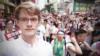 """2019年6月9日,德国90后穆达伟(David Missal)和上百万港人一道走在""""守护香港反送中""""大游行的队伍里。""""今日我係香港人,""""他在推特上写道。"""