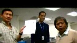 จับรายชื่อผู้โชคดีได้ัรับ iPad จาก วีโอเอ ไทย