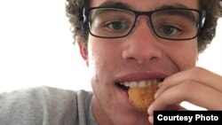 Carter Wilkerson is seen eating one of his favorite foods, chicken nuggets from Wendy's. (Carter Wilkerson)