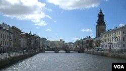 Kota Gothenburg di pantai barat Swedia.