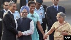 Барак Обама и Монмохан Сингх в Нью-Дели