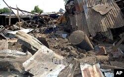 Scène d'un attentat à Maiduguri (3 juillet 2011)
