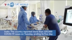 VOA60 World - India reported more than 320,000 COVID-19 cases on Tuesday