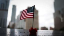 Una imagen actual de 2021 del memorial a los ataques del 11 de septiembre de 2021 en Nueva York, Estados Unidos.