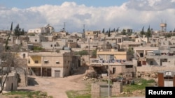 A photo of the Syrian village of Khan al-Assal, near where forces loyal President Bashar al-Assad say chemical weapon attack occurred on March 19.