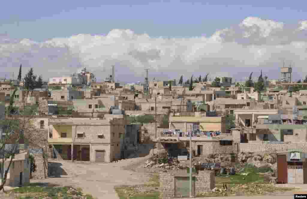 A general view shows Khan al-Assal near where residents say a March 19 chemical weapon attack occurred.