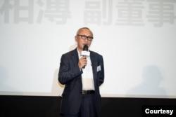 纬创资通副董事长黄柏漙出席2020年11月10日在台北举办的产官学携手共创学用接轨 GOLF社团立案发布会。(纬创资通Wistron提供)