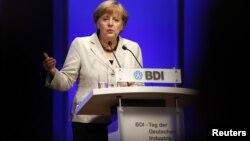 Nemačka kancelarka Angela Merkel govori na konferenciji u Berlinu