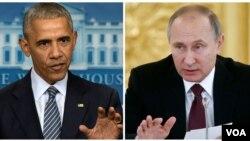 Prezida Barack Obama, (i bubamfu), na Prezida Vladimir Putin (i buryo)