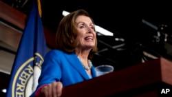 House Speaker Nancy Pelosi of Calif. speaks during her weekly press briefing on Capitol Hill, Sept. 30, 2021.