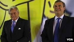 """La fórmula del Partido Nacional compuesta por Luis Alberto Lacalle y Jorge Larrañaga apuesta ahora al mensaje de """"equilibrio""""."""