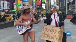 Nyu-York AQShning 45-prezidenti Donald Tramp bilan o'zgacha xayrlashdi