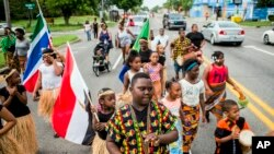 Défilé, à Flint, Michigan, le 19 juin 2018, à l'occasion de la fête qui commémore la fin de l'esclavage aux États-Unis, Il y a 155 ans, (Jake May / The Flint Journal via AP, archives)