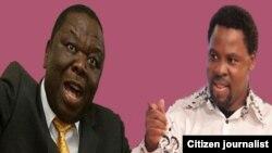 TB Joshua (right) believes that Tsvangirai will one day rule Zimbabwe.