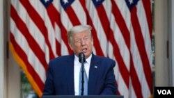 Donald Trump fala na Casa Branca (Foto de Arquivo)